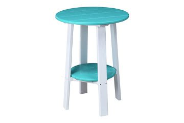 PDET28ABW 28 Deluxe End Table Aruba Blue White