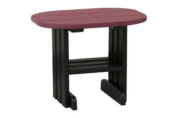 PETCHB End Table Cherrywood Black