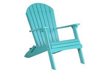 PFACAB Folding Adirondack Chair Aruba Blue