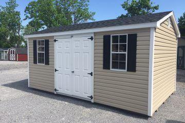 10x16x7 tan vinyl cottage