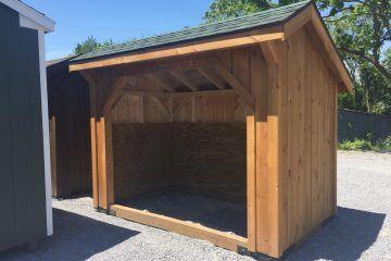 6x10 Wood shed birch green