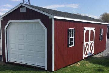 12x28x8 Classic Cottage-Barn red- H136