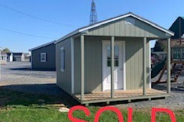 (SOLD) 12x16x8 Classic Cottage w/ Porch H149